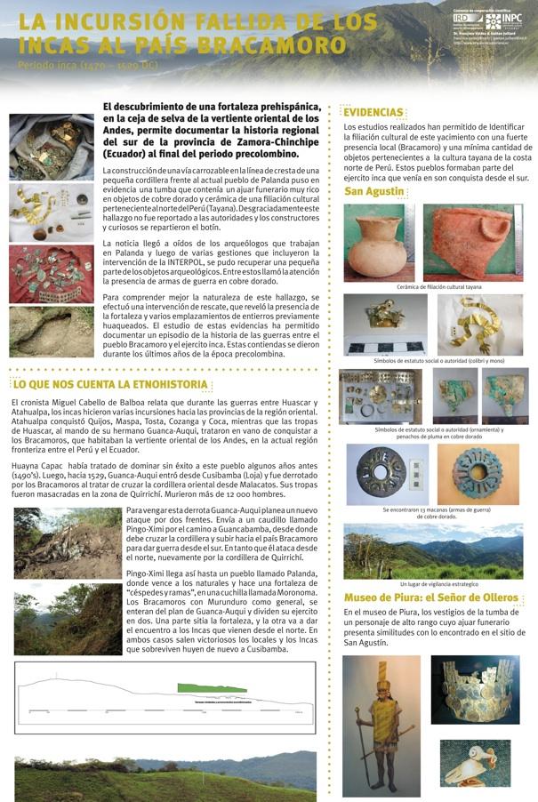 Afiche de presentación de los resultados de investigación en San Agustin.
