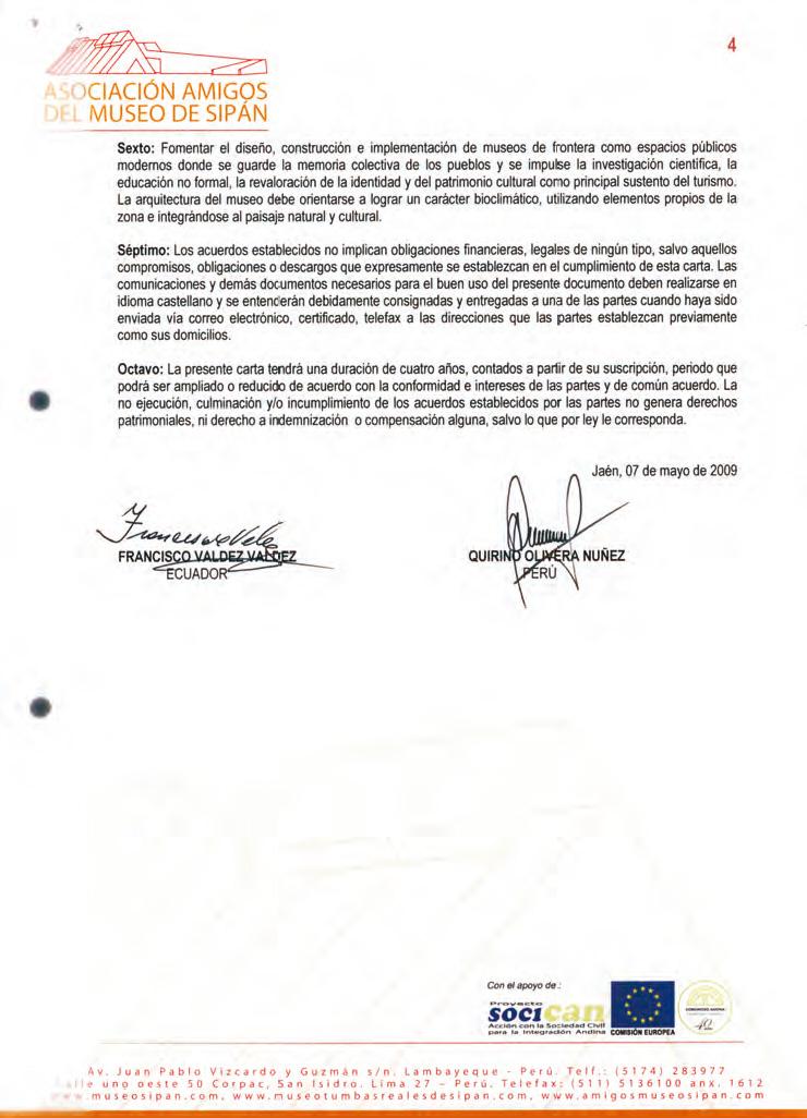 Carta de Intención Binacional
